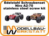 XXL Schrauben-Set für ARRMA Outcast 4x4 4S BLX / Kraton 4x4 4S BLX - 1:10 4WD Edelstahl (Niro) A2-70