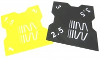 RC Sturzlehre 1:8 Off-Road schwarz-gelb 2 Platten 1°/1,5°/2° und 2,5°/3°/3,5° Quick Camber Gauge