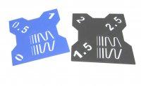 RC Sturzlehre 1:10 schwarz-blau 2 Platten 0°/0,5°/1° und 1,5°/2°/2,5° Quick Camber Gauge
