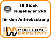 Kugellager-Set für XRAY XT8 2022 2019 XT8E 2022 2019 XT8`22 XT8.2 XT8E`22 XT8E.2