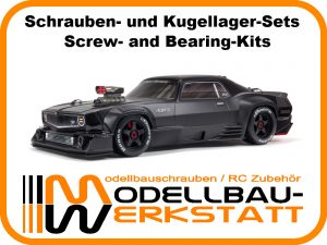 Ball Bearing kit Modellbau-Werkstatt Kugellager-Set f/ür ARRMA Limitless Mojave Infraction Version 1 1:7 6S BLX